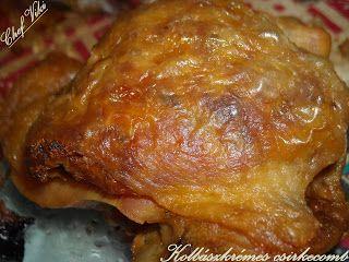 Házias konyha: Kolbászkrémes csirkecomb