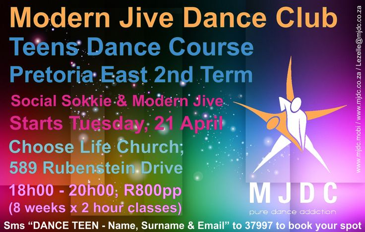2nd Term Teens Dance Course - Pretoria East www.mjdc.co.za