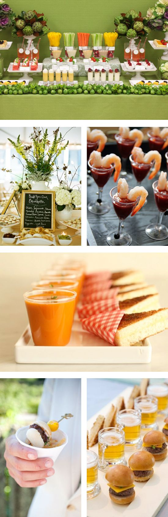 Build your own bruschetta. Did I already pin this? Things We Love - Creative Food Stations - My Wedding Reception Ideas | Blog