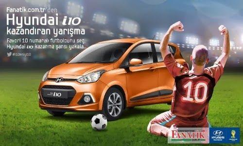 Fanatik.com.tr Hyundai i10 Çekiliş Kampanyası http://www.kampanya-tv.com/2014/02/fanatik.com.tr-hyundai-i10-cekilis-kampanyasi.html