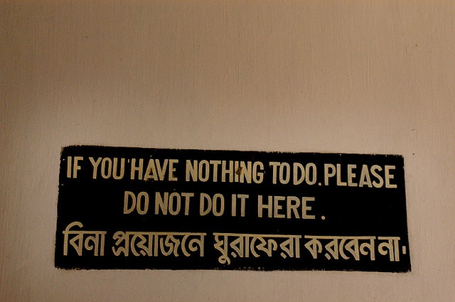 The sign says everything. by grafikcissi, via Flickr