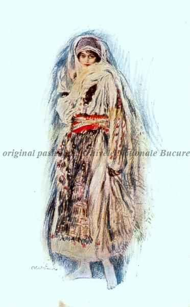 BU-F-01073-5-05361-1 Femeie în costum popular românesc, -1917 (niv.Document)