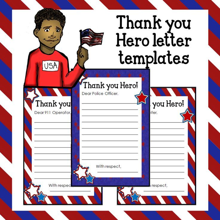 Write thank you letters to first responders and display them on a Patriot Day 9/11 bulletin board