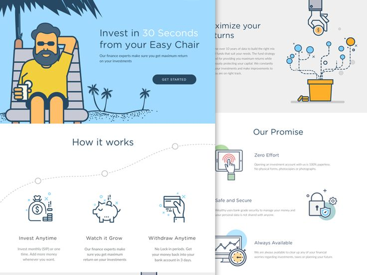 Investments - Landing page