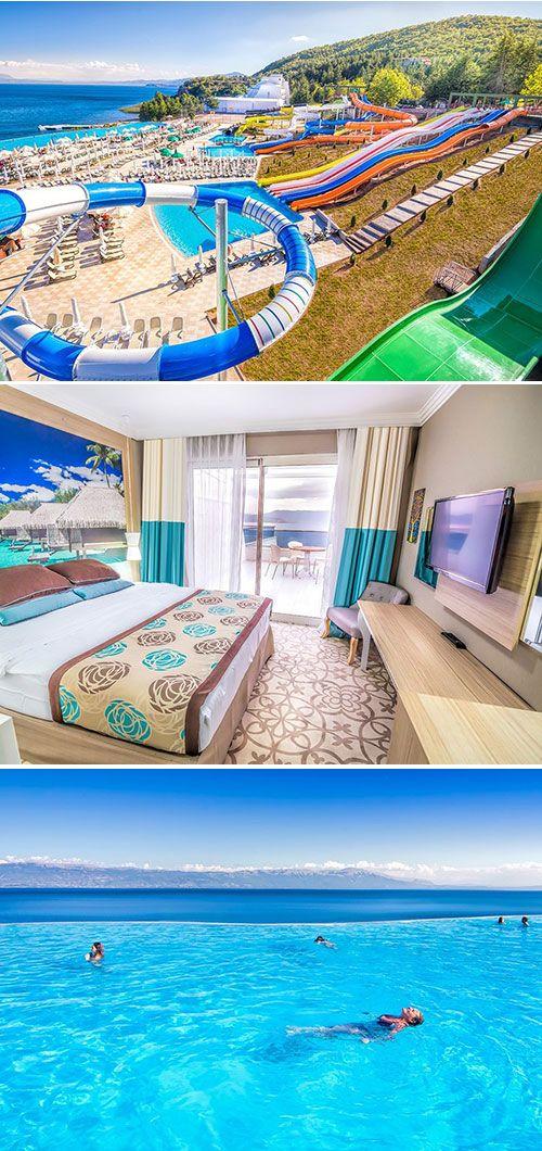 Izgrev Spa & Aquapark: een geslaagde vakantie voor het hele gezin met dank aan o.a. de waterglijbanen, het infinty zwembad en de spa.