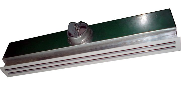Linear Slot Diffuser With Plenum Box With Round Collar For