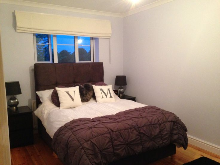Bedroom Painted In Dulux Blueberry White  Cortinas E