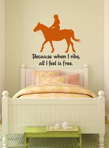 cool for a kids room. I want to get my kids (when we have some) into horses, cause i missed out on such a great thing.