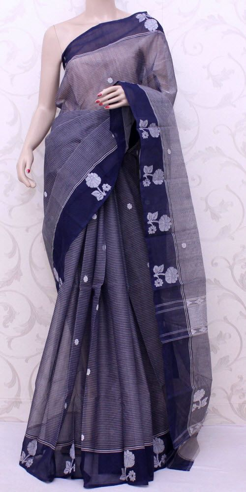 Bengal Handloom Tant Saree (W/B-Cotton) 13060