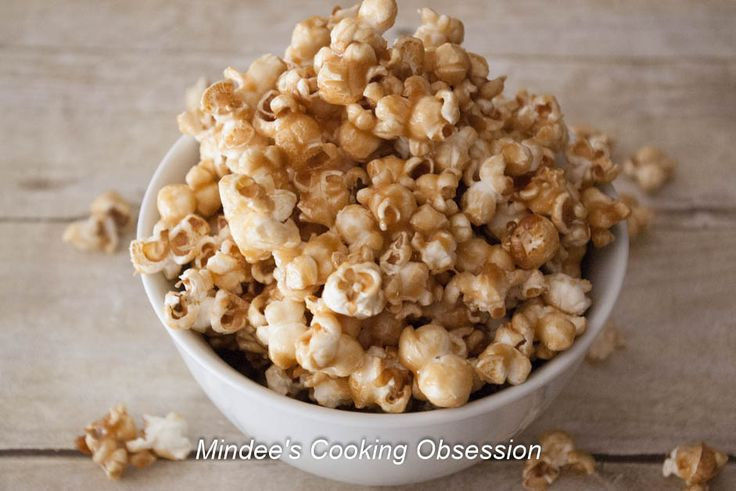 This easy caramel popcorn is great to munch on while watching a movie!  It comes together in a snap and is as simple to make as it is delicious!