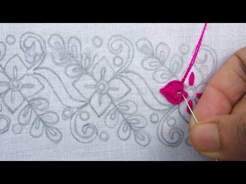 Hand embroidery, Border Line Embroidery Design, Simple Border Design – YouTube