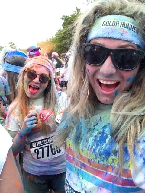 The colour run with my best friend!
