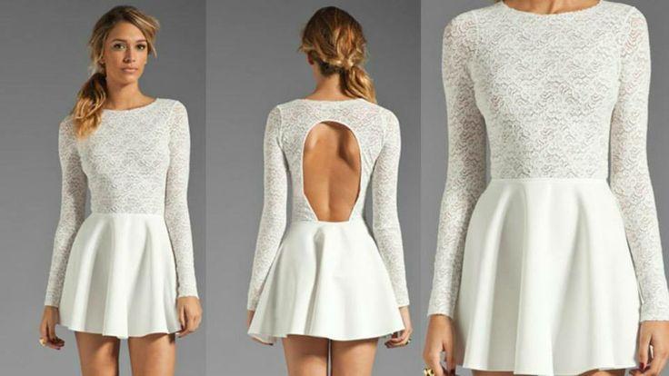 Vestido corto blanco con la espalada descubierta, para una noche de coctel..... Que nunca falte nuestro armario chicas;)