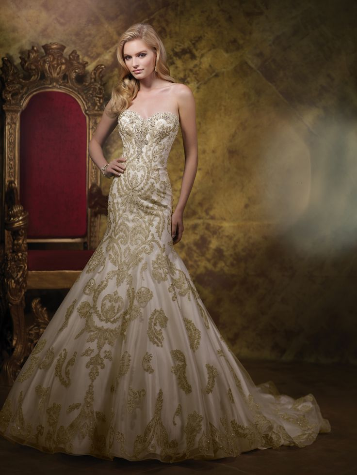 32 best images about james clifford spring 2015 bridal for Wedding dresses with gold beading