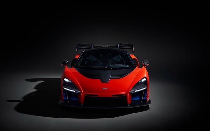 Download wallpapers 4k, McLaren Senna, supercars, 2018 cars, hypercars, McLaren