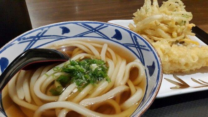 Udon with tempura..