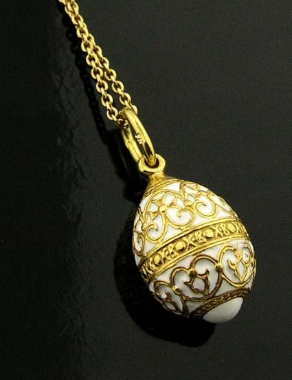 Rusos Blancos De Huevo Colgante Plata 925 Oro 22kt contrastado, dos veces Wow in Joyería y relojes, Joyas de moda, Collares y dijes   eBay