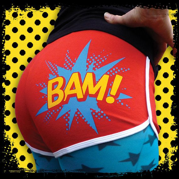 Roller Derby Shorts Roller Derby hotpants BAM Red by Inkabilly, £16.99