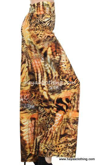 Hayaa Clothing - HARI Yellow Black Tiger Stripe Wide leg Palazzo Pants, $27.99 (http://www.hayaaclothing.com/hari-yellow-black-tiger-stripe-wide-leg-palazzo-pants/)