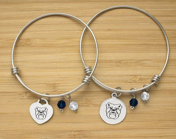 Butler Bulldogs Bracelet | Stainless Steel Adjustable Bangle | Three Styles | Officially Licensed | Butler University Bracelets