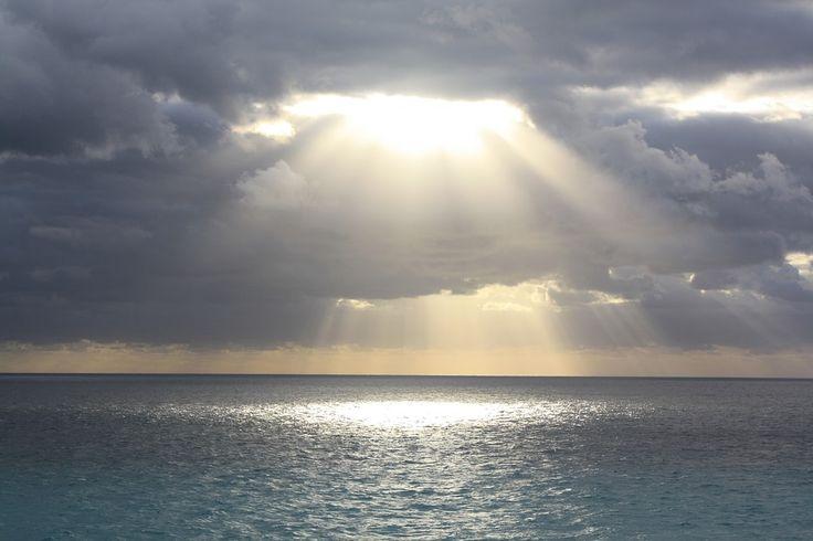Zon, Oceaan, Wolken, Tropische, Vakantie, De Zomer