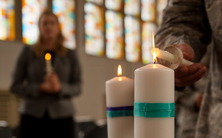 An Airman lights her candle in honor of a victim of interpersonal violence during a candlelight vigil Oct. 27, 2016, at Ramstein Air Base, Germany. According to the Center for Disease Control and Prevention, over the course of a year, more than 10 million U.S. citizens are victims of domestic violence, sexual abuse, child violence and bullying or suicide. The devastating physical, emotional, and psychological consequences of interpersonal violence can cross generations and last lifetimes.