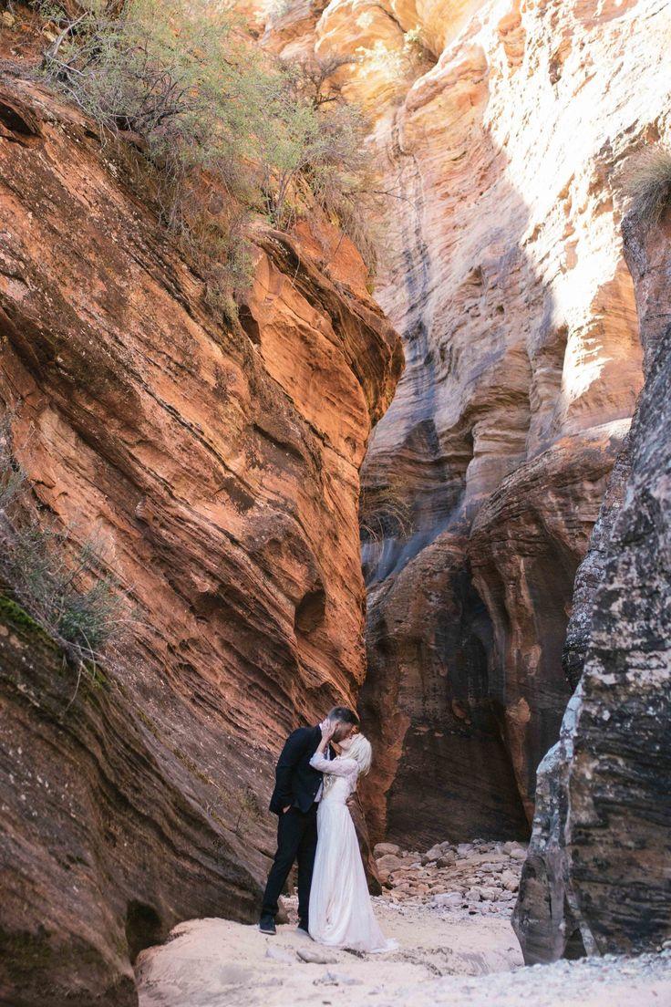 Kelley Deal Photography   Sunrise Bridal Shoot in Zion National Park, Utah   Tyler Rye Workshop   Bride and Groom   Wedding dress   Canyon Bride   Outdoor shoot   LDS   Long-sleeved Wedding Dress