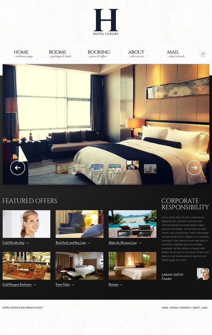Website Design Ideas single page design Hotel Website Design