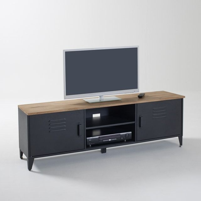 Fans Of Stylish Interiors Will Love The Timeless Modern Industrial Style Of This Hiba Tv Unit Product Details 2 Doors In 2020 Oak Tv Unit Tv Unit Wall Mounted Tv
