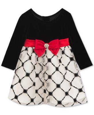 ce3eb8f03 Rare Editions Velvet Flocked Dress