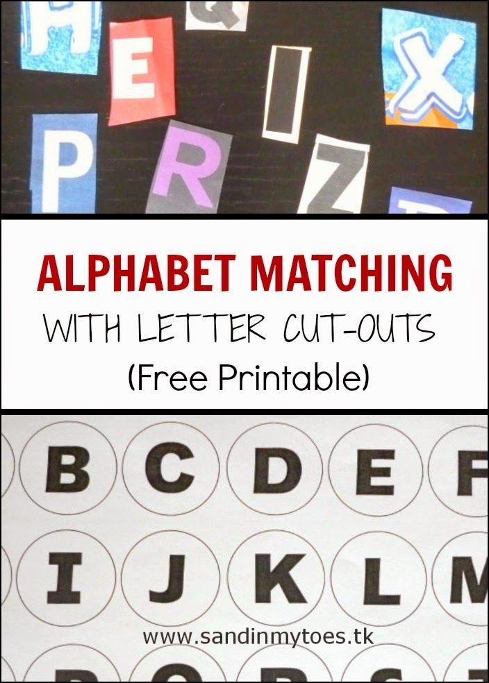 Learning to identify and match alphabets can be so much fun with this activity! We used letter cut-outs from newspapers and magazines for this activity. Free Alphabet Matching Sheet printable included.  #toddleractivities #learningthroughplay #learningalphabets #freeprintable