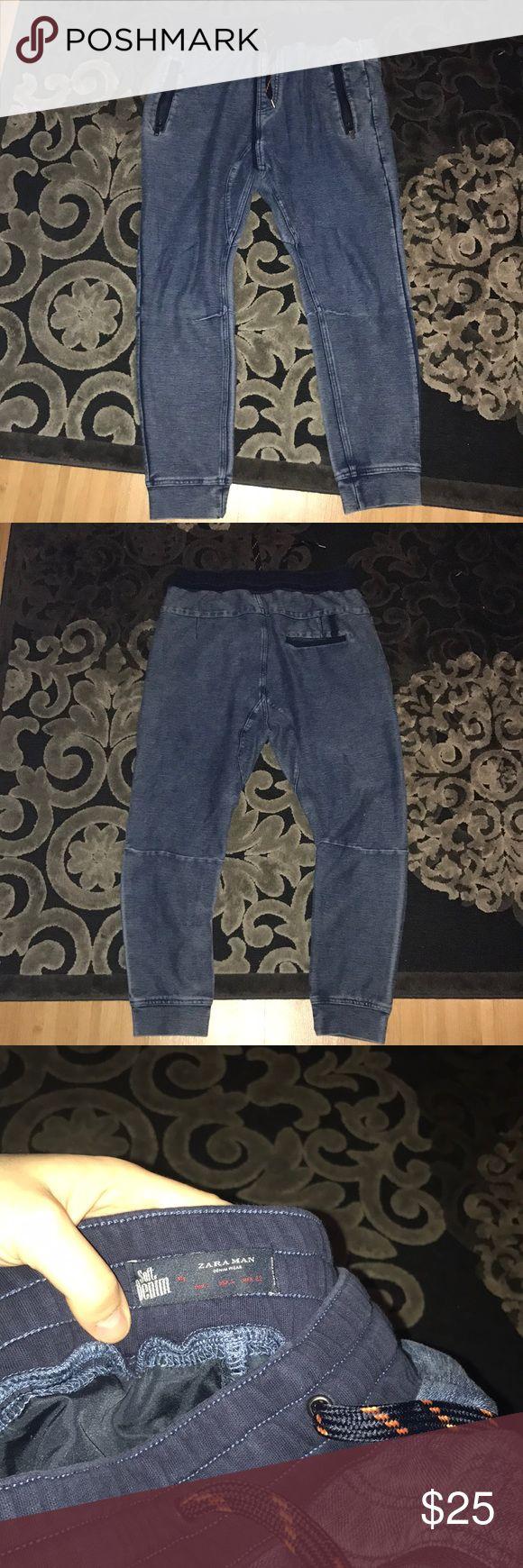 Zara Man Soft Denim joggers These are super soft denim joggers men's size LG. Zara Pants Sweatpants & Joggers