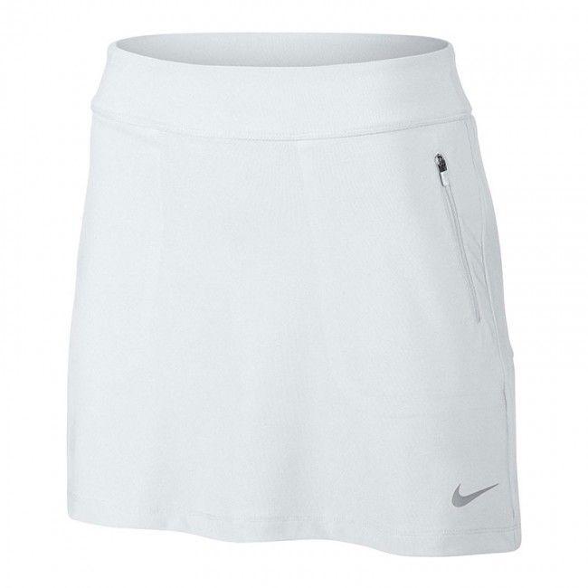 Falda Nike golf No-Sew Skort Ladies.. Falda pantalón Nike Golf para mujeres, con cintura elástica ajustable y diseñado con la tecnología Dri-Fit, para mantenerla seca y cómoda mientras juega a golf. Falda ligera y muy cómoda con short interior. Fabricada con Polyester y Spandex