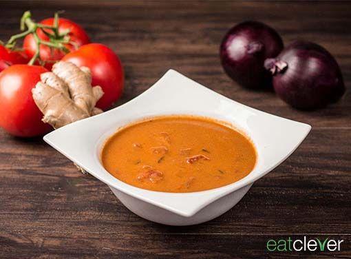 Tomaten Kokos Suppe - Exotische Variante der klassischen Tomatensuppe.