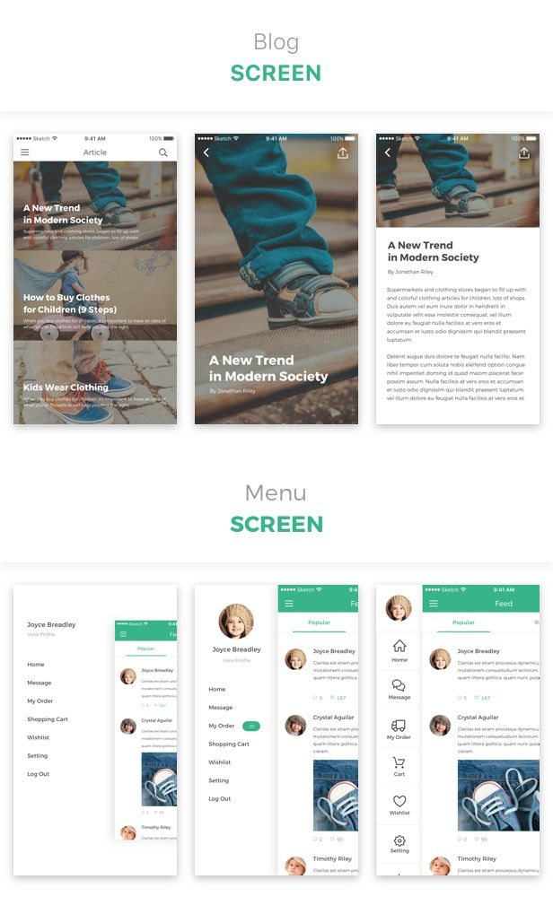 Kidos Kids Clothing Ios Ui Kit Interior Design Inspiration Ideas Pinterest And