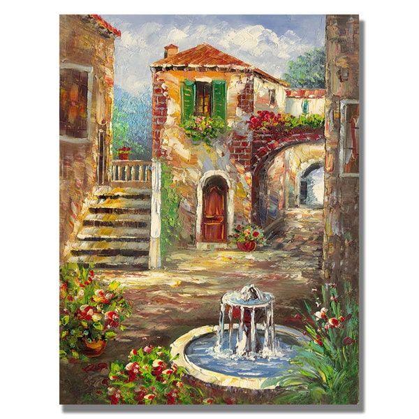 Rio 'Tuscan Cottage' Canvas Art