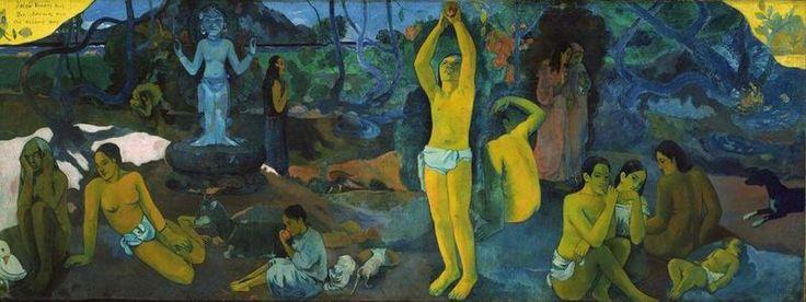 Paul Gauguin, Da dove veniamo? Che siamo? Dove andiamo?, 1897. Olio su tela, 139×374.5 cm. Museum of Fine Arts, Boston