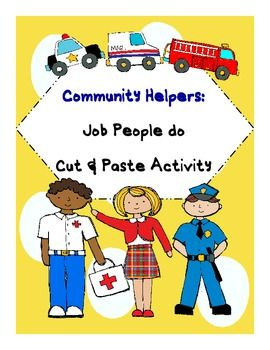 This is a community helpers activity on the jobs people do. Students read the clues in the riddle. They decide which community helper does that job... 2.00