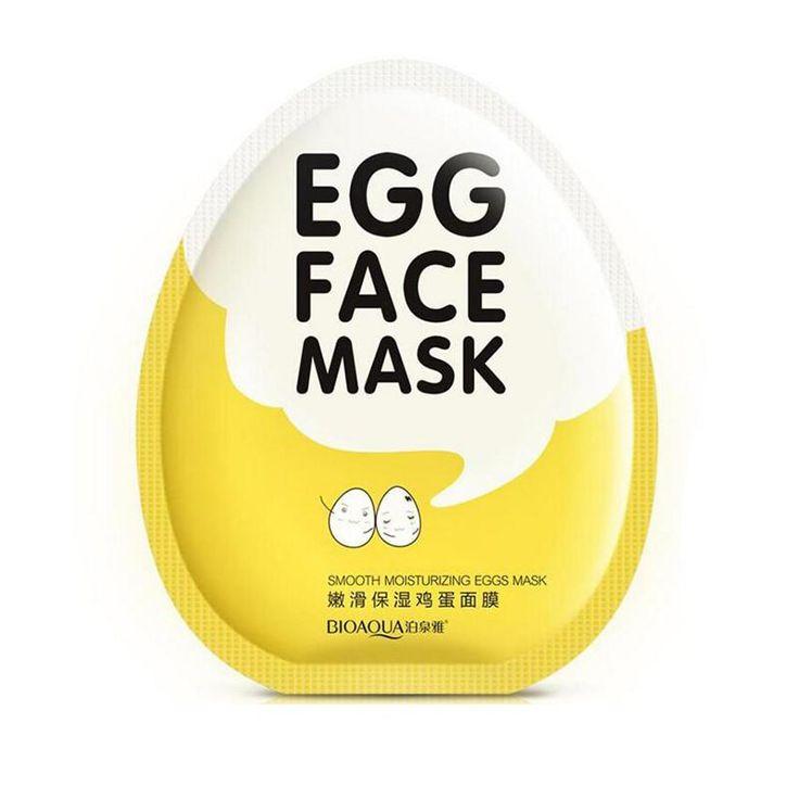 [Visit to Buy] 2017 Brand BIOAQUA Egg Facial Masks Tender Moisturizing Face Mask Oil Control Brighten Wrapped Mask Skin Care #Advertisement