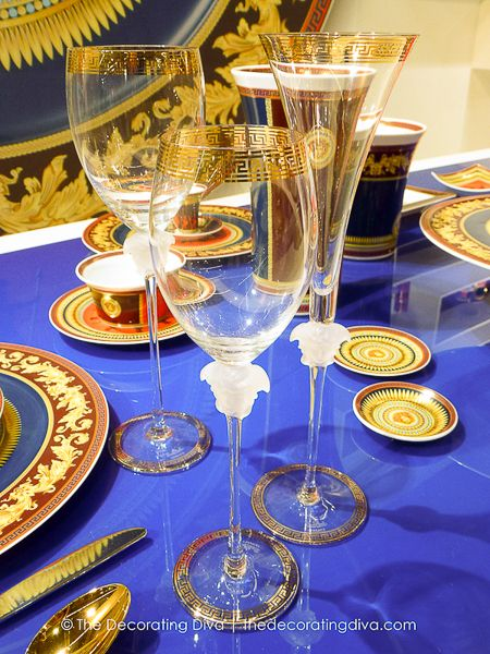 Crystal Stemware from Rosenthal's Versace Iconic Heroes Collection: Chic Decor, Tables, Crystals Glassware, Fine China Glassware Cutlery, Dinner Parties, Crystals Chandeliers, Icons, Crystals Stemware, Versace Dinnerware