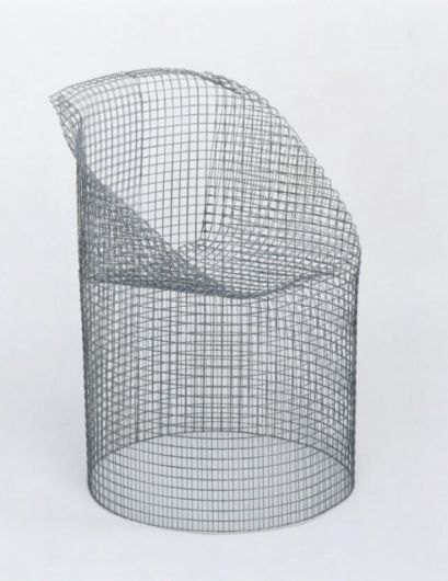 Ueli Berger; Molded Wire Mesh '5-Minute-Chair', 1970.