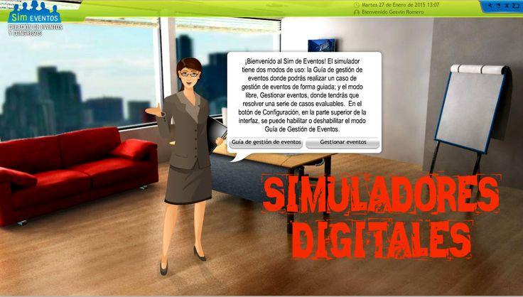 Los simuladores digitales son objetos de aprendizaje que mediante un software, intentan modelar, recrear y/o replicar fenómenos de la realidad con el propósito que el usuario construya conocimiento...