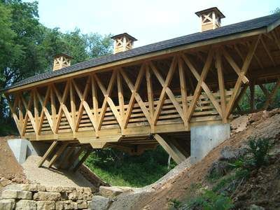 Timber Framed Covered Bridge Project By The Darlington