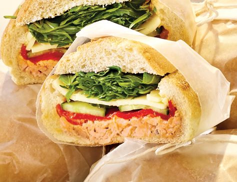 Chicken And Brie Sandwich With Pan-Roasted Cherry Tomatoes Recipes ...