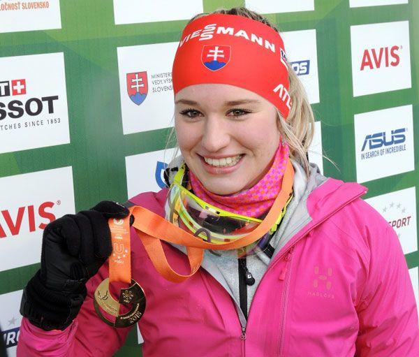 First Biathlon Gold for Slovakia, 2015 - Paulina Fialkova