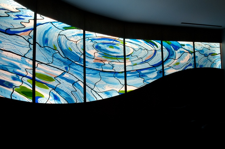 Beautiful Art Glass Installation in the World's Biggest Ronald McDonald House in Chicago, IL