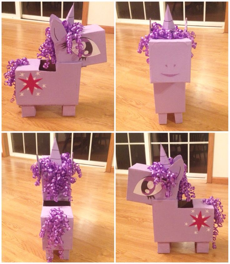 Twilight Sparkle Valentines box #mlp #diy our box for 2015-yes we rock