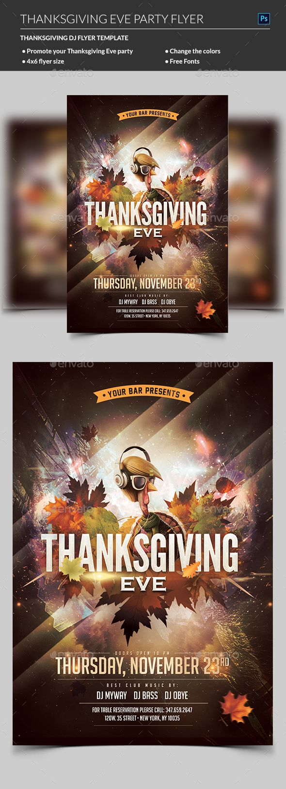 #Thanksgiving #Party #Flyer - Clubs & Parties Events