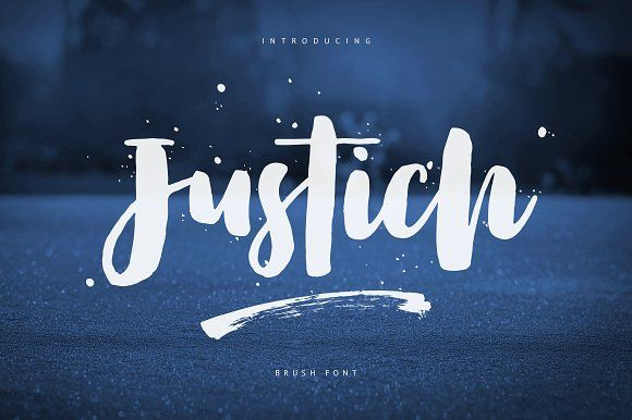 Justich Brush Font by COB on @creativemarket