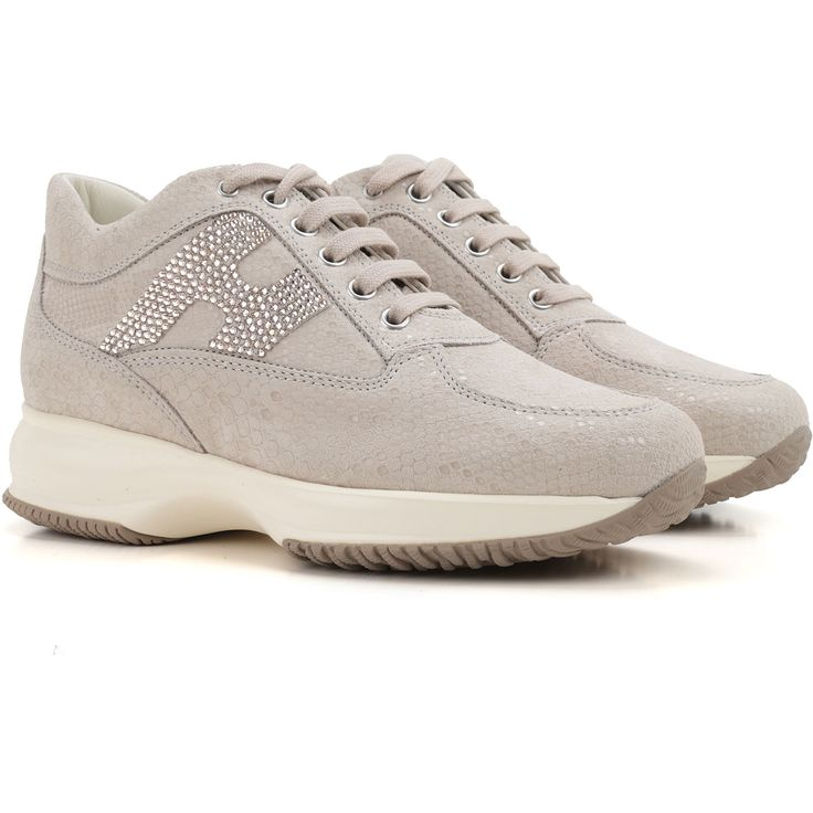 Sneakers for Women On Sale in Outlet, Taupe Grey, Suede leather, 2017, US 9 (EU 39) Hogan